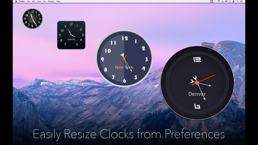 Desktop Clock for Mac - review, screenshots
