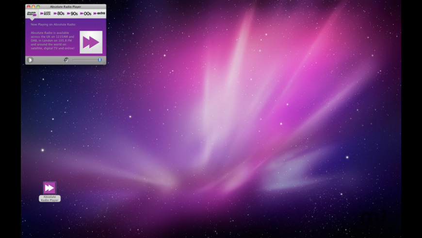 Absolute Radio Player for Mac - review, screenshots