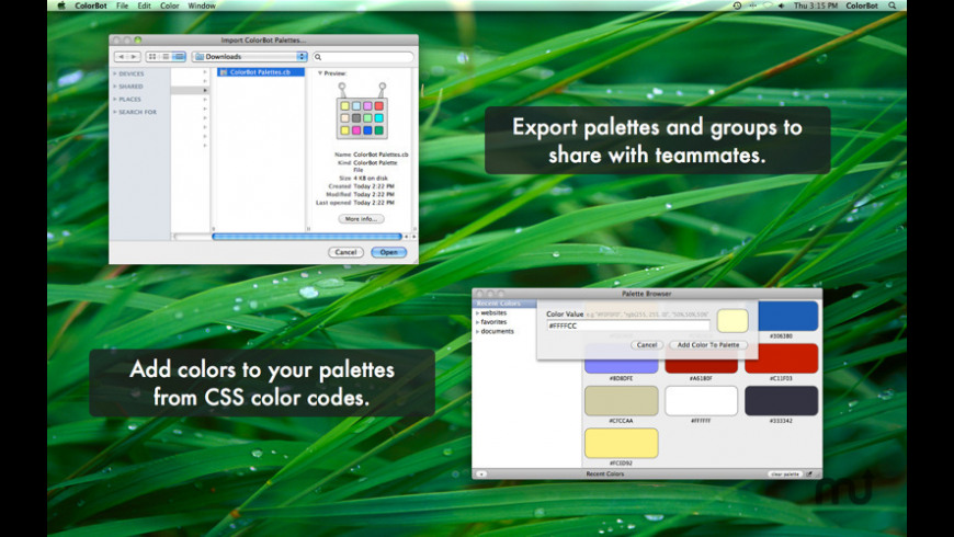 ColorBot for Mac - review, screenshots