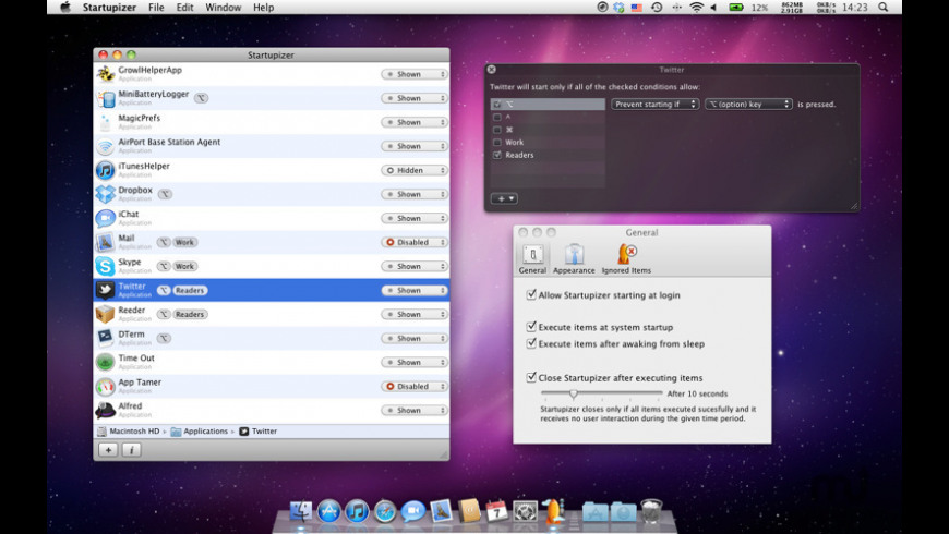 Startupizer for Mac - review, screenshots