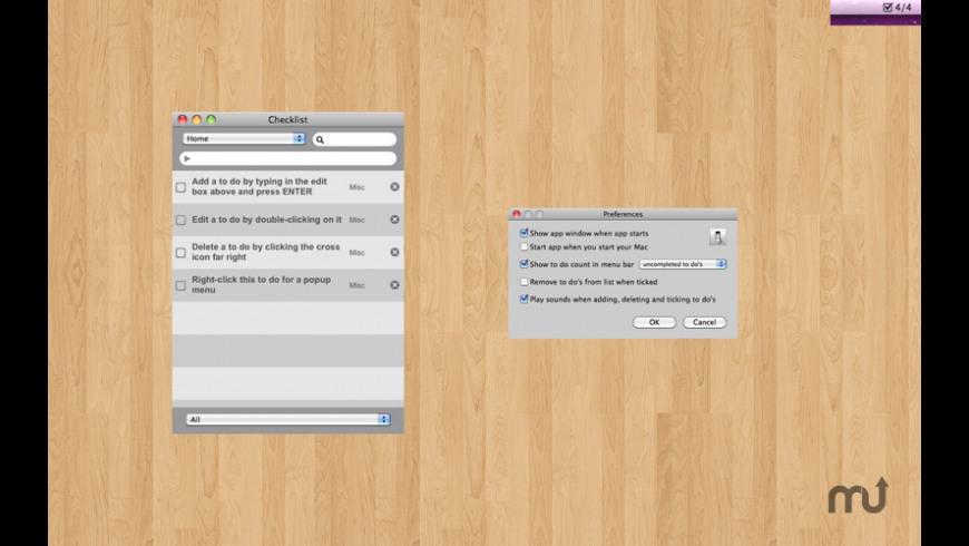 Checklist for Mac - review, screenshots