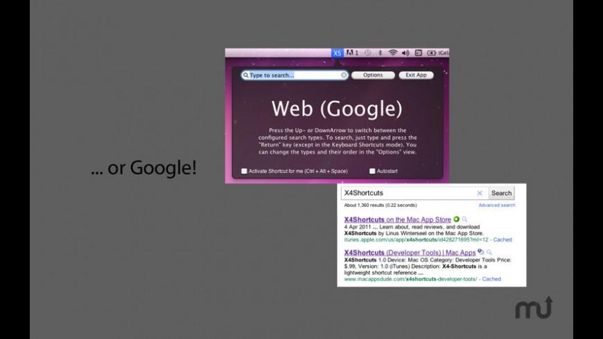 X4Shortcuts for Mac - review, screenshots