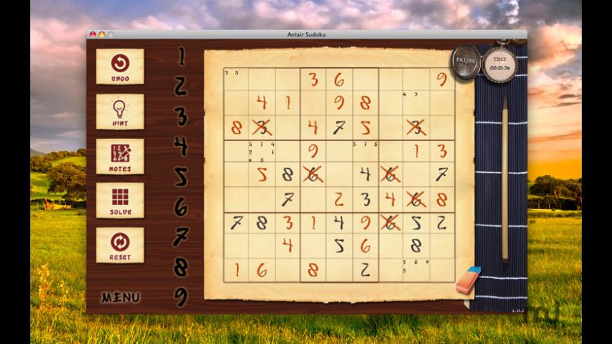 Antair Sudoku for Mac - review, screenshots