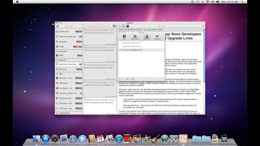 GoReader for Mac - review, screenshots