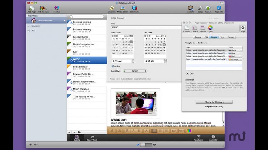 DateLoom for Mac - review, screenshots