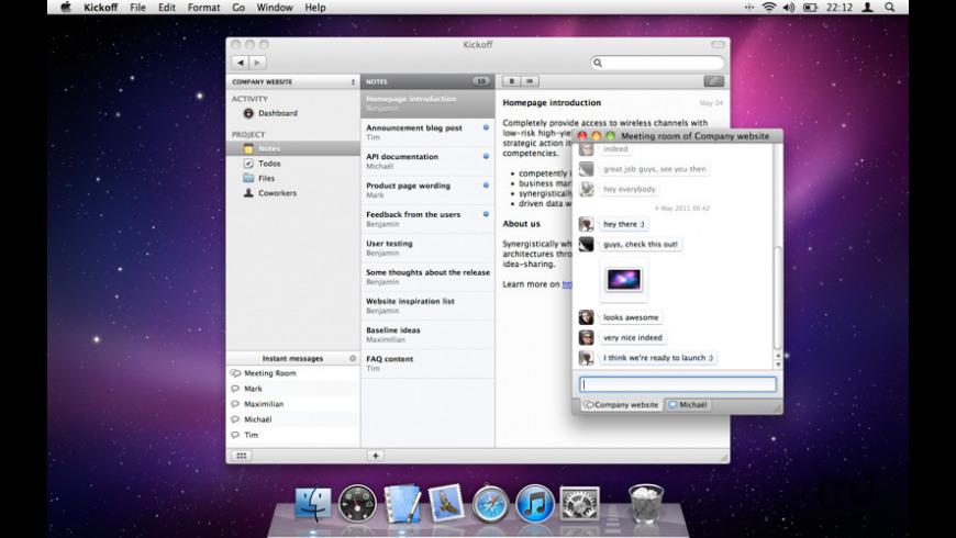 Kickoff for Mac - review, screenshots