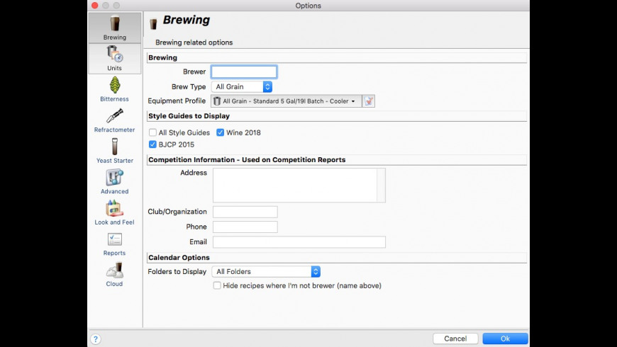 BeerSmith for Mac - review, screenshots