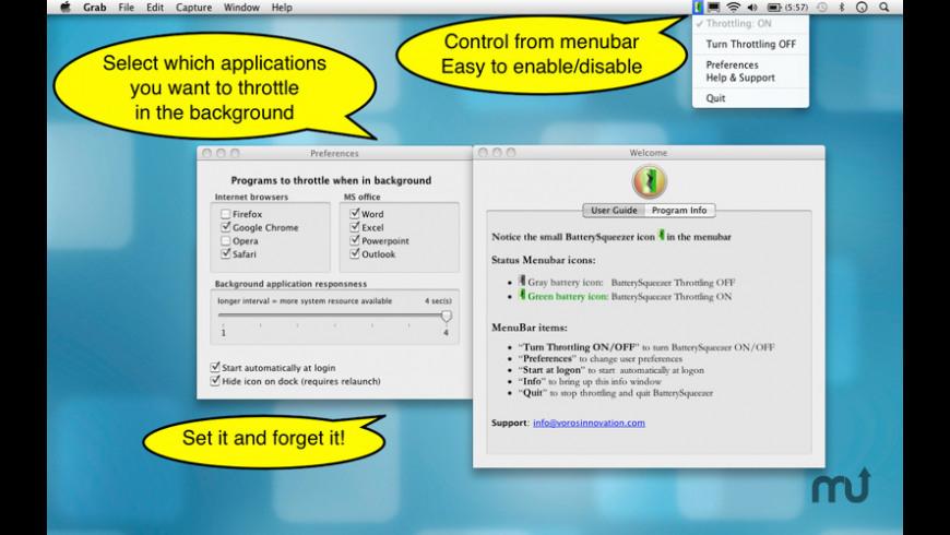 BatterySqueezer for Mac - review, screenshots