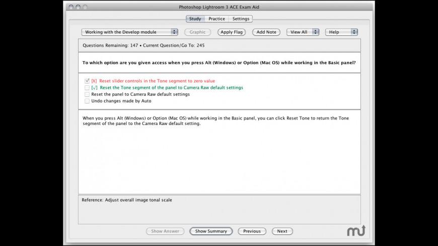 Adobe Photoshop Lightroom 3 ACE Exam Aid for Mac - review, screenshots