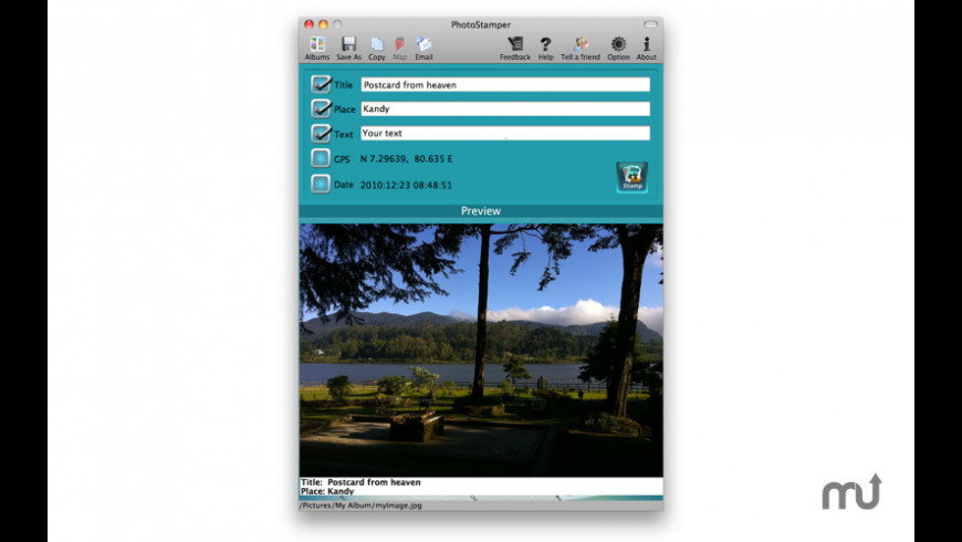 PhotoStamper for Mac - review, screenshots
