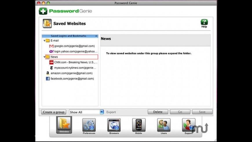 Password Genie for Mac - review, screenshots