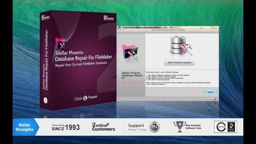 Stellar Phoenix Database Repair for FileMaker for Mac - review, screenshots