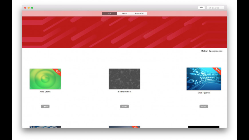 Motion Backgrounds for Mac - review, screenshots