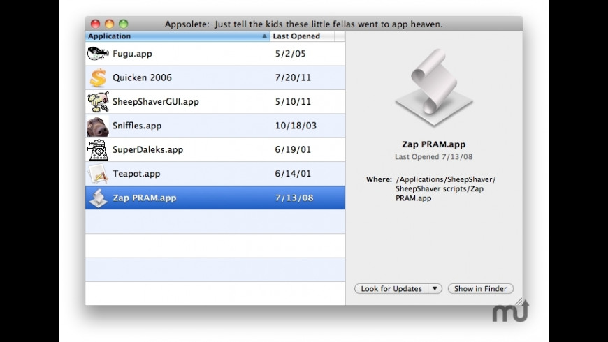 Appsolete for Mac - review, screenshots