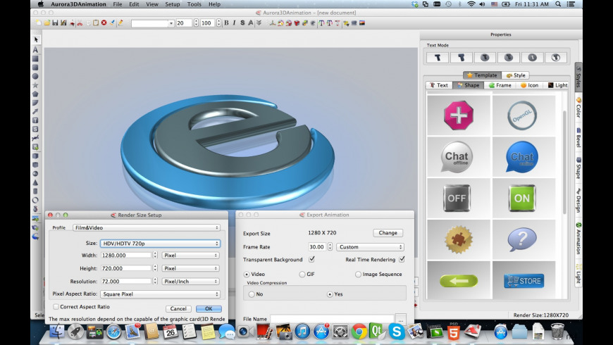 Aurora 3D Animation Maker for Mac - review, screenshots