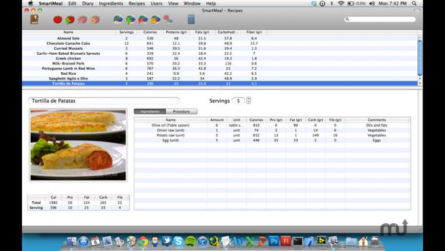 SmartMeal for Mac - review, screenshots