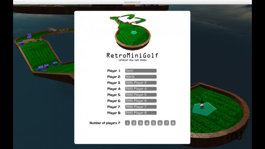 RetroMiniGolf for Mac - review, screenshots