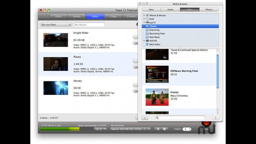 Toast High-Def/Blu-ray Disc Plug-in for Mac - review, screenshots