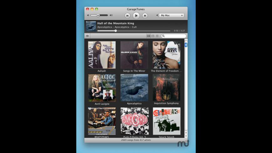 GarageTunes for Mac - review, screenshots