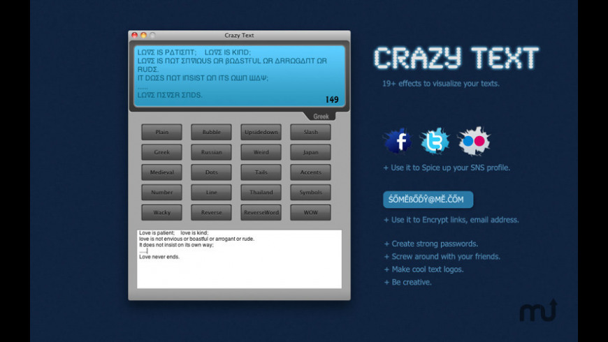 Crazy Text for Mac - review, screenshots