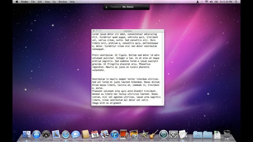 Focusbar for Mac - review, screenshots