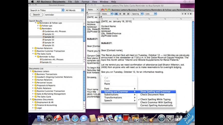 All-Business-Letters for Mac - review, screenshots