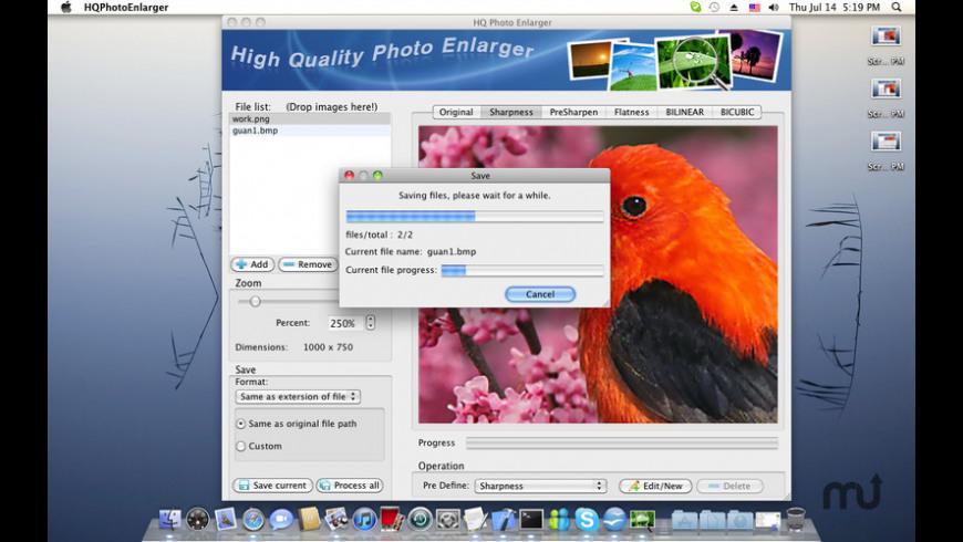 HQ Photo Enlarger for Mac - review, screenshots