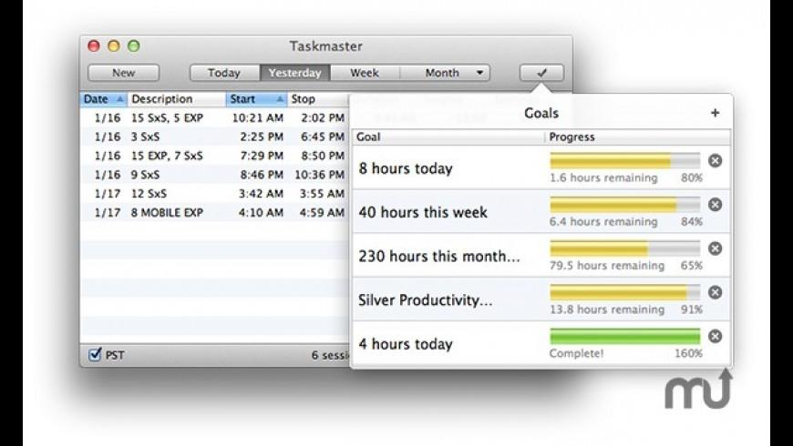 Taskmaster for Mac - review, screenshots