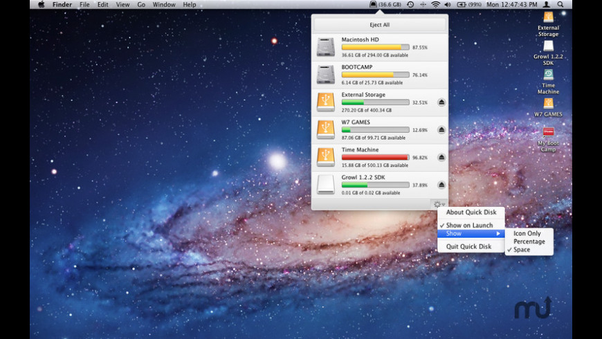 Quick Disk for Mac - review, screenshots