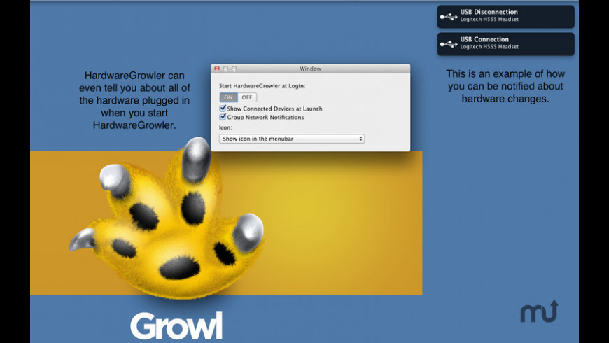 HardwareGrowler for Mac - review, screenshots