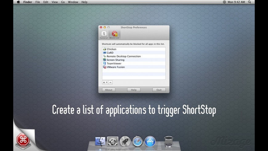 ShortStop for Mac - review, screenshots
