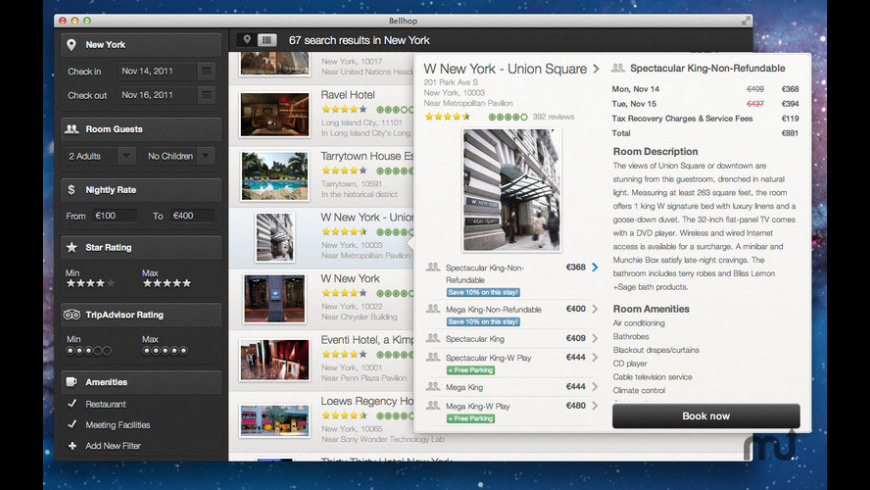 Bellhop for Mac - review, screenshots