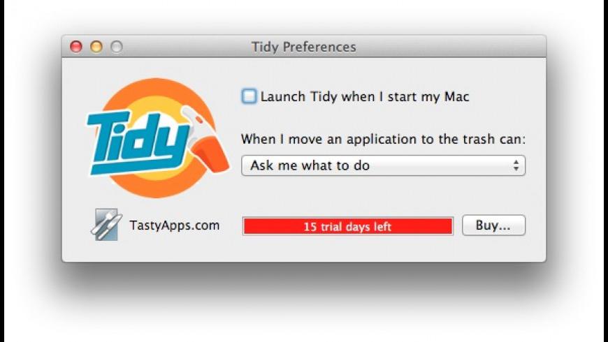 Tidy for Mac - review, screenshots