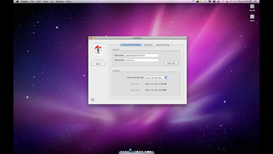 mm2ical for Mac - review, screenshots