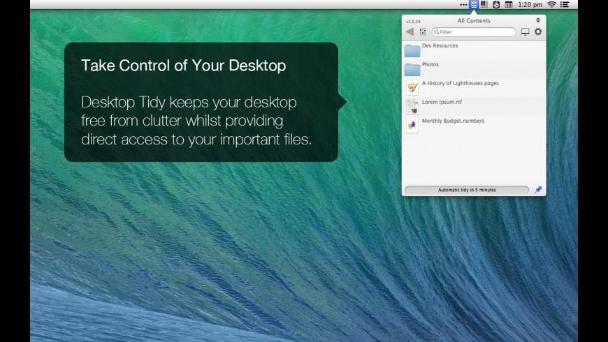 Desktop Tidy for Mac - review, screenshots