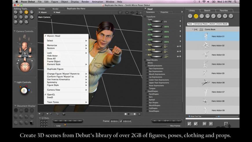 Poser Debut for Mac - review, screenshots