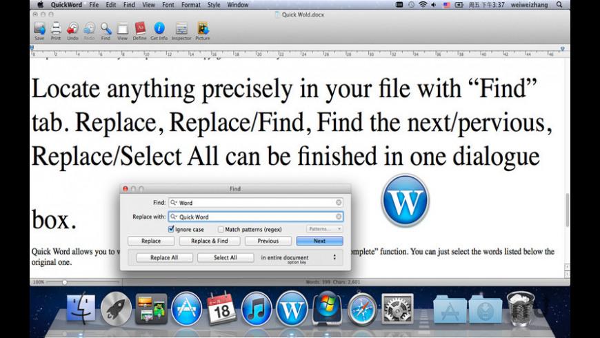 Quick Word for Mac - review, screenshots
