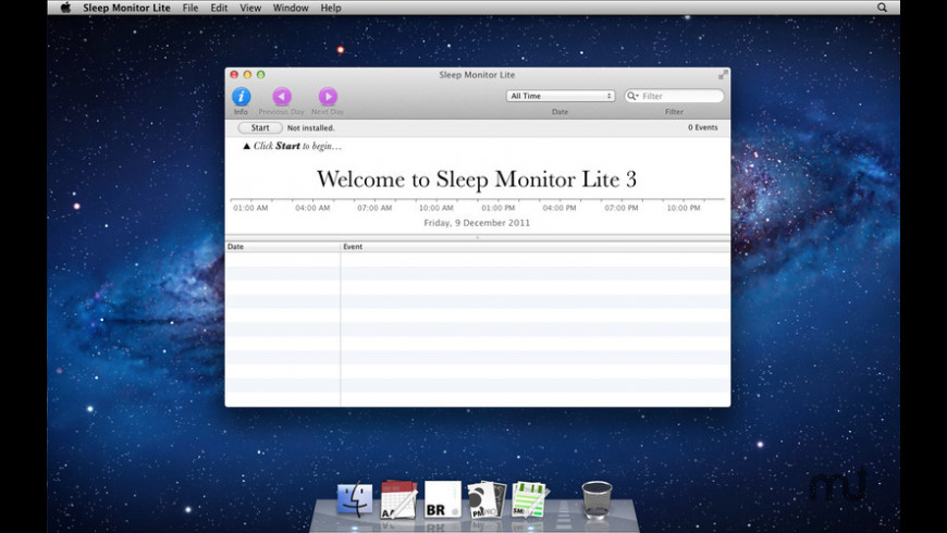 Sleep Monitor Lite for Mac - review, screenshots