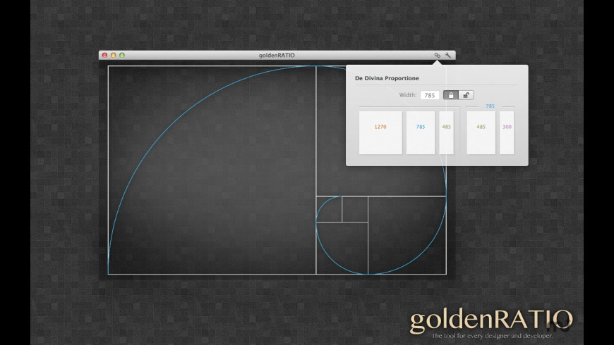 goldenRATIO for Mac - review, screenshots