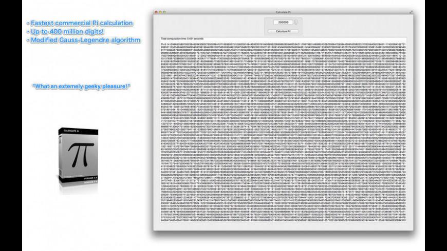 Calculate Pi for Mac - review, screenshots