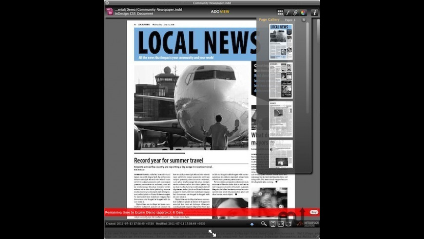 ADOView for InDesign for Mac - review, screenshots