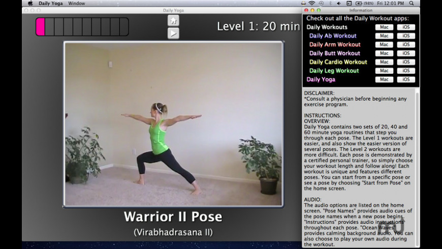 Simply Yoga for Mac - review, screenshots