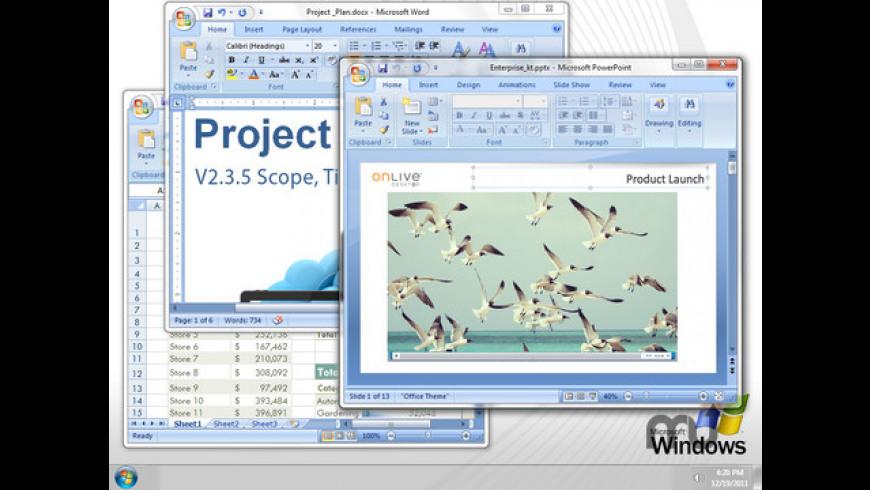 OnLive Desktop for Mac - review, screenshots