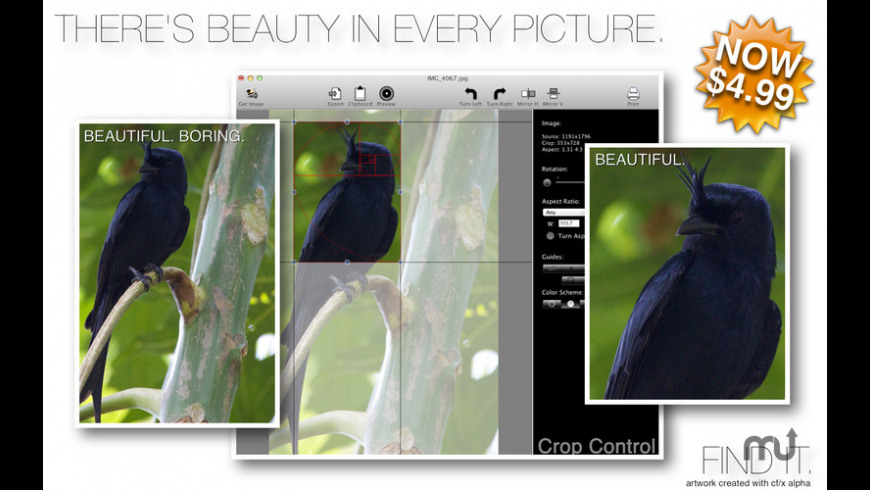 photo crop for Mac - review, screenshots