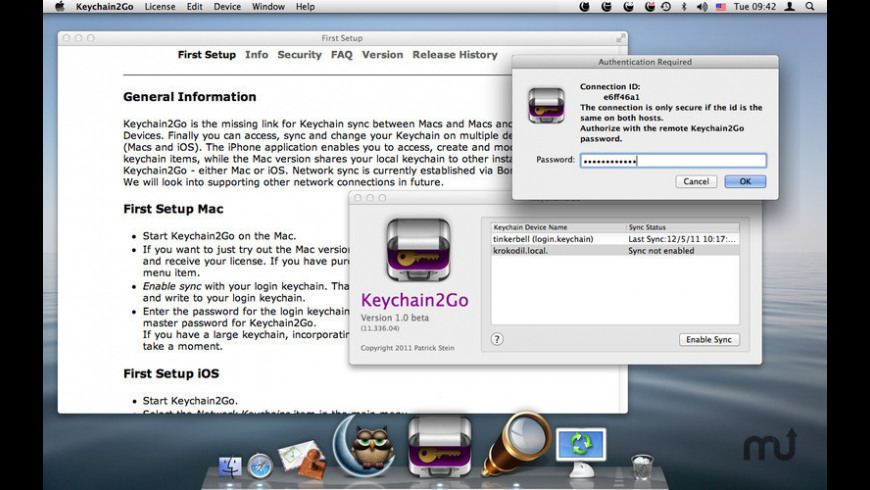 Keychain2Go for Mac - review, screenshots