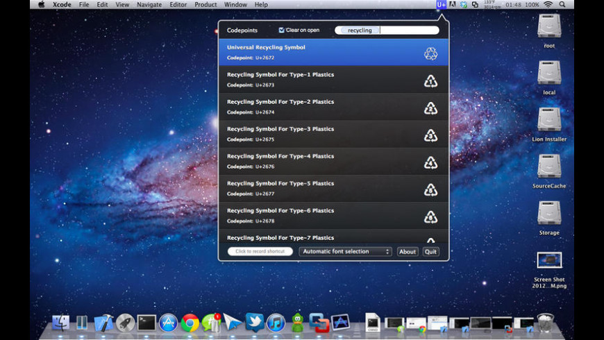 Codepoints for Mac - review, screenshots