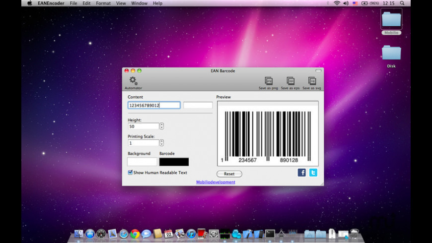 BarcodeEncoder for Mac - review, screenshots