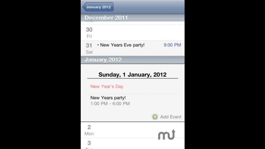 Scrollendar Calendar for Mac - review, screenshots