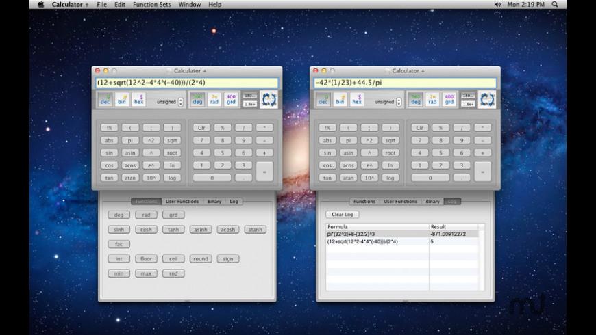 Calculator + for Mac - review, screenshots