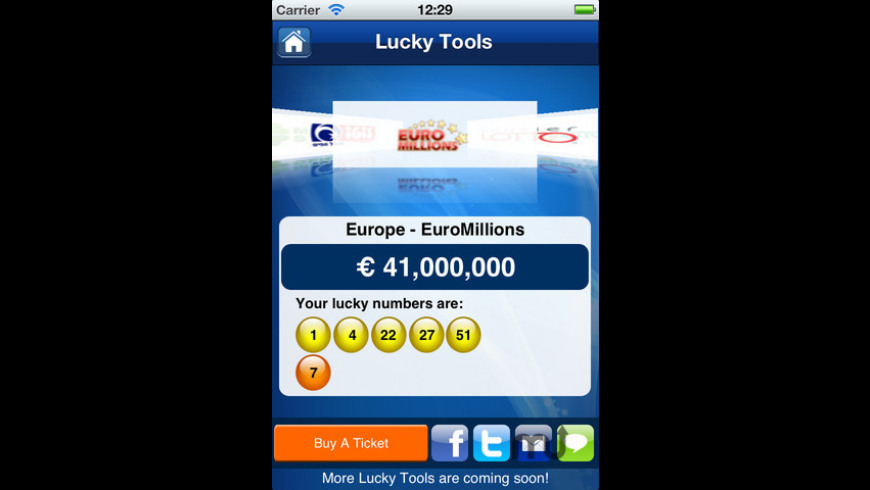 Lottery Results - theLotter for Mac - review, screenshots